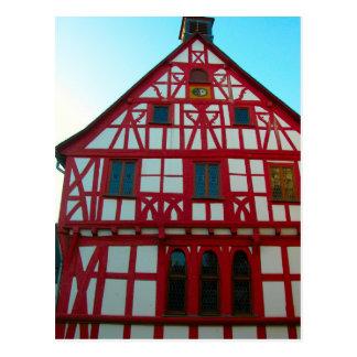 Germany, Rhineland, Rhens, halftimbered houses 3 Postcard