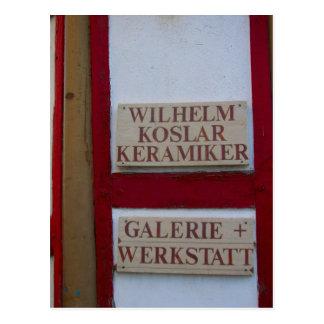Germany, Rhineland, Rhens, halftimbered houses 5 Postcard