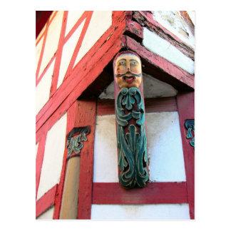 Germany, Rhineland, Rhens, halftimbered houses 6 Postcard