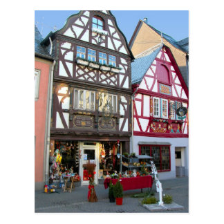 Germany, Rhineland, Rhens, halftimbered houses 7 Postcard