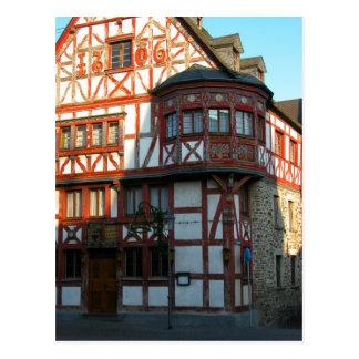 Germany, Rhineland, Rhens, halftimbered houses 8 Postcard