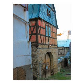 Germany, Rhineland, Rhens, halftimbered houses Postcard
