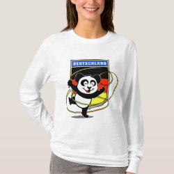 Women's Basic Long Sleeve T-Shirt with German Rhythmic Gymnastics Panda design