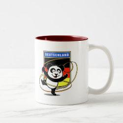 Two-Tone Mug with German Rhythmic Gymnastics Panda design