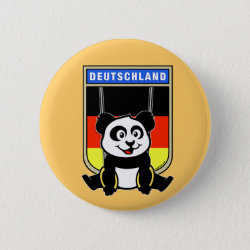 Round Button with German Rings Panda design