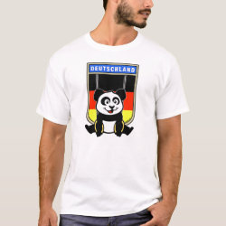 Men's Basic T-Shirt with German Rings Panda design