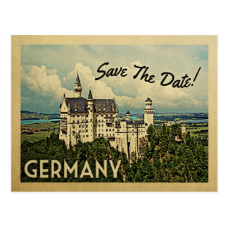 Germany Save The Date Neuschwanstein Castle Postcard