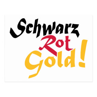 Germany schwarz rot gold postcard
