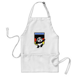 German Shot Put Panda Apron