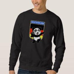 Men's Basic Sweatshirt with German Shot Put Panda design