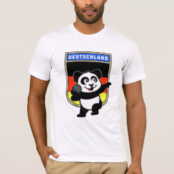 Men's Basic American Apparel T-Shirt with German Shot Put Panda design