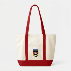 Impulse Tote Bag with German Shot Put Panda design