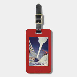 Germany - Skiing in the Black Forest Bag Tag