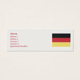 Germany - Skinny Mini Business Card