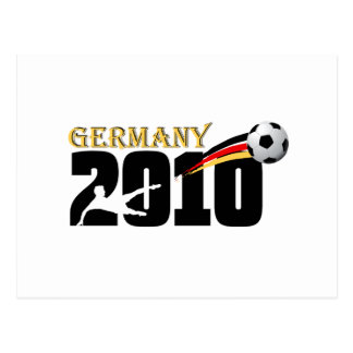Germany Soccer 2010 fußball fans logo Postcard
