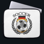 "Germany Soccer 2016 Fan Gear Computer Sleeve<br><div class=""desc"">High quality 3D illustration of a soccer ball with the national flag of Germany and a crest. You can modify the design any way you like by using the &quot;Customize it&quot; function. You can move the design, zoom in and out, change the background color or add your own images or...</div>"