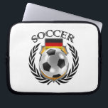 """Germany Soccer 2016 Fan Gear Computer Sleeve<br><div class=""""desc"""">High quality 3D illustration of a soccer ball with the national flag of Germany and a crest. You can modify the design any way you like by using the &quot;Customize it&quot; function. You can move the design, zoom in and out, change the background color or add your own images or...</div>"""