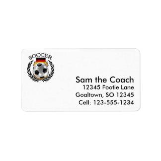 Germany Soccer 2016 Fan Gear Label