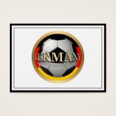 Germany Soccer Ball Business Card at Zazzle