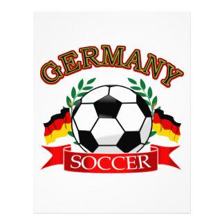 Germany soccer ball designs letterhead