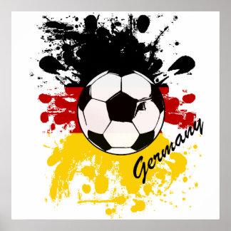 Germany soccer ball splash artwork sports fan poster