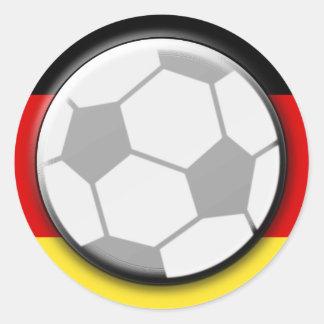Germany Soccer Ball Classic Round Sticker