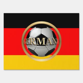 Germany Soccer Ball Yard Sign