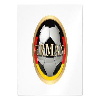 Germany Soccer Ball Magnetic Invitations