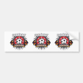Germany Soccer Burst Bumper Sticker