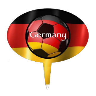 Germany Soccer Cake Topper