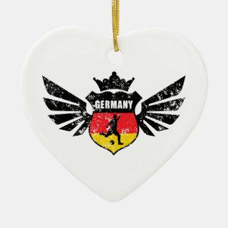Germany soccer ceramic ornament