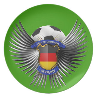 Germany Soccer Champions Dinner Plate