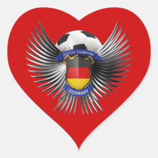 Germany Soccer Champions Heart Sticker