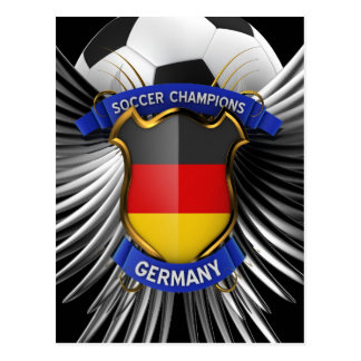 Germany Soccer Champions Postcard