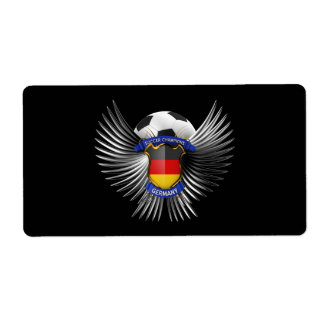 Germany Soccer Champions Shipping Label