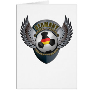 Germany Soccer Crest Greeting Cards