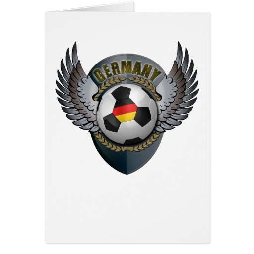 Germany Soccer Crest Greeting Card