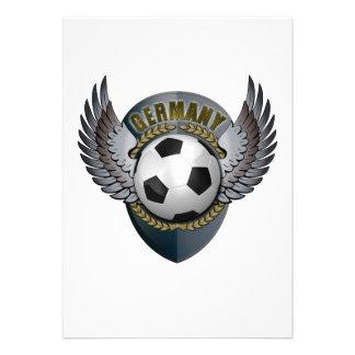 Germany Soccer Crest Custom Invitation