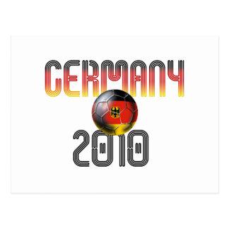 Germany soccer faded 2010 logo postcard