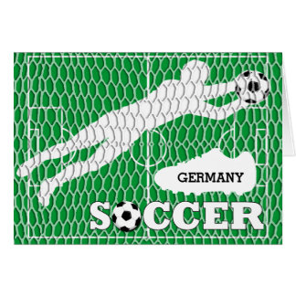 Germany Soccer Field Shoes Goal Greeting Card