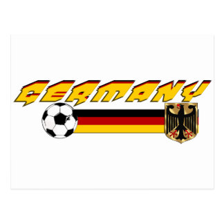 Germany Soccer flag ball gifts Post Card