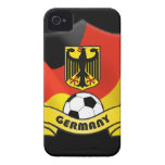 Germany Soccer iPhone 4/4S Case-Mate Barely There Case-Mate iPhone 4 Cases