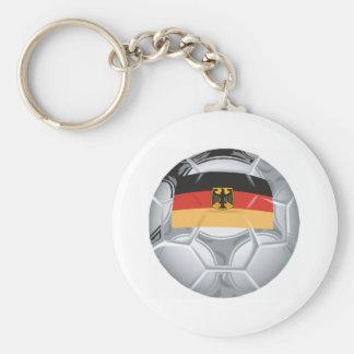 Germany Soccer Basic Round Button Keychain