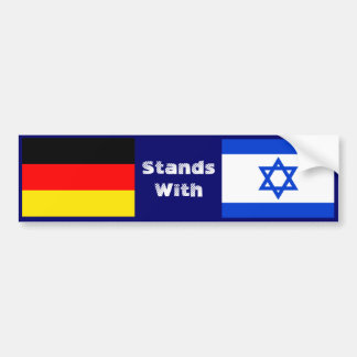 Germany Stands With Israel Bumper Sticker