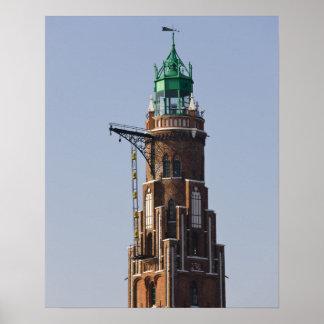 Germany, State of Bremen, Bremerhaven. Harbor Poster
