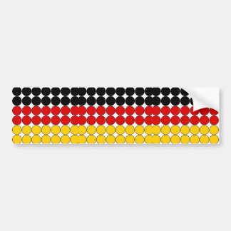 Germany Stylish Girly Chic : Polka Dot German Flag Bumper Sticker