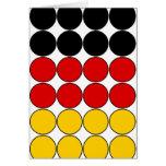 Germany Stylish Girly Chic : Polka Dot German Flag Cards