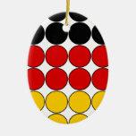 Germany Stylish Girly Chic : Polka Dot German Flag Christmas Ornaments