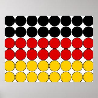 Germany Stylish Girly Chic : Polka Dot German Flag Poster