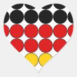 Germany Stylish Girly Chic : Polka Dot German Flag Heart Sticker